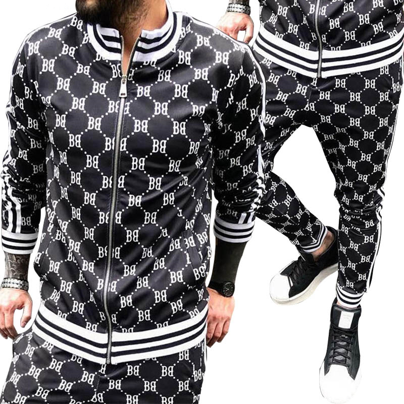 Men's Sports Suit Running Set Men Jogging Tracksuit New Set Autumn Mens 2 Piece Sets Gyms Fitness Suit Male Jacket + Pants