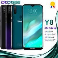 DOOGEE Y8 Android 9.0 4G LTE 6.1 pouces 19:9 Waterdrop LTPS écran Smartphone MTK6739 3GB RAM 32GB ROM 3400mAh double SIM 8.0MP