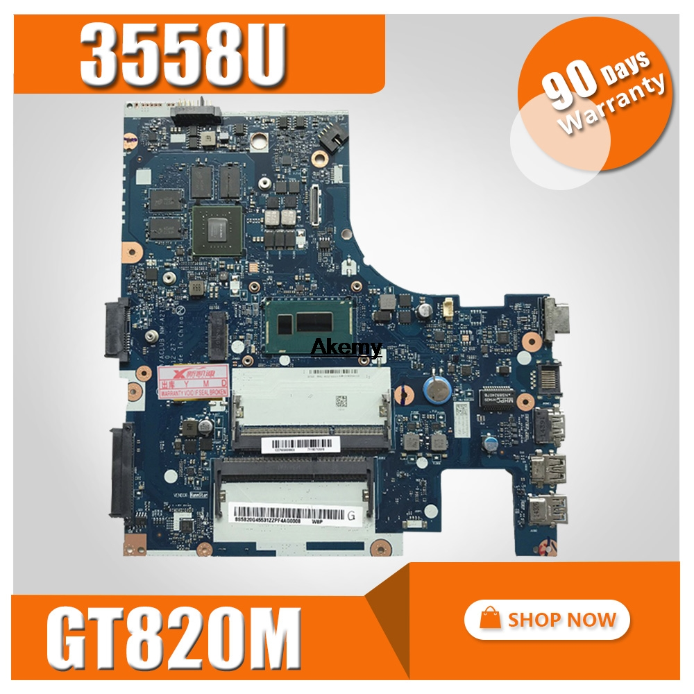 ACLUA/ACLUB NM-A273 For Lenovo Z40-70 G40-70M Notebook Motherboard CPU 3558U GT820M 2G DDR3 100% Test Work