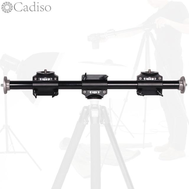 Cadiso Camera Boom Mount Extension Horizontal Tripod Cross Bar Arm Steeve Support Bracket Professional Tripod Vertical Shooting