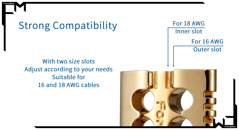 FormulaMod Cable Metal Comb ,Brass Material Wire Organizer Management Tool For 16/18 AWG PSU Extension/Modular Cable Fm-JSXJTZ