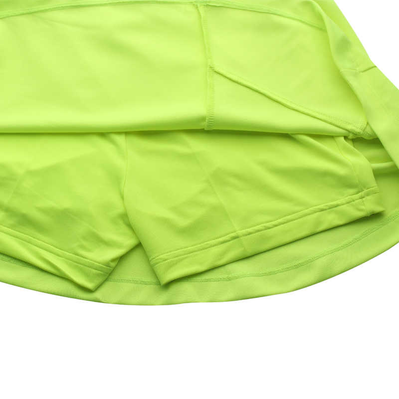 Letnie sportowe spódnica 2 In1 krótkie kobiety Fitness Badminton tenis stołowy tenis Skorts oddychające szybkie suche spódnice do biegania szorty do biegania