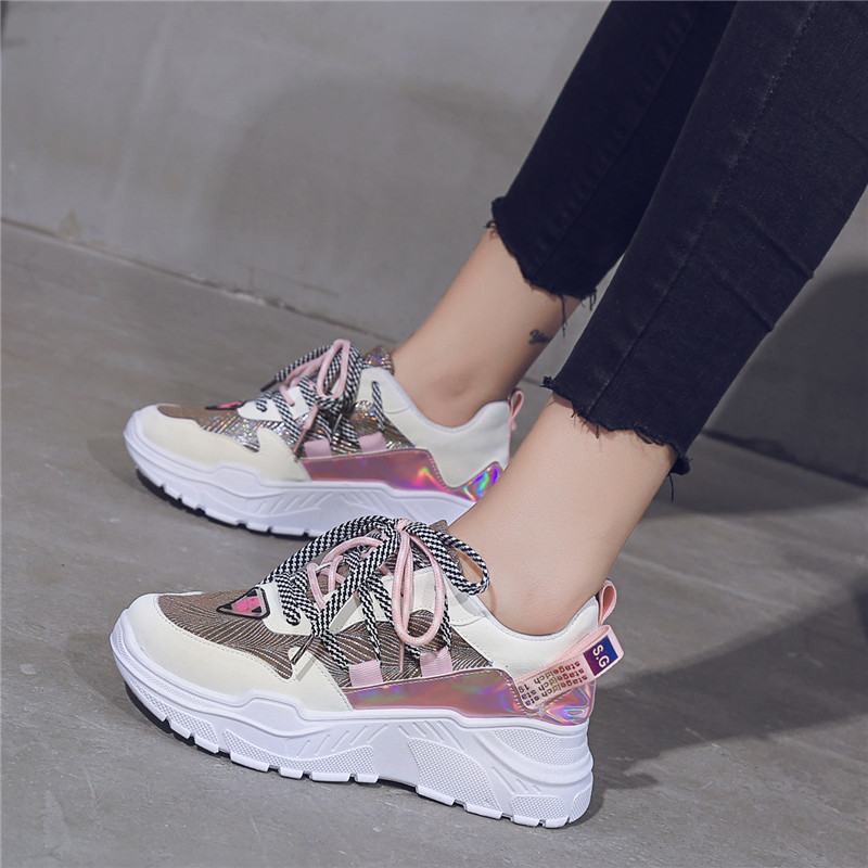 Lace-Up  Women Sneakers  Fila Shoes  Woman Shoes Sneakers  PU  Women Designer Sneakers Beige Casual Shoes A2021