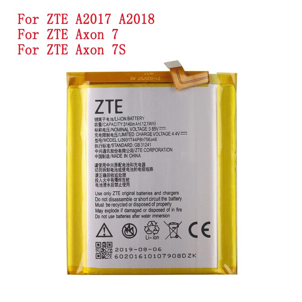 3140mAh LI3931T44P8H756346 Original Phone Battery For ZTE Axon 7 5.5inch A2017 Battery