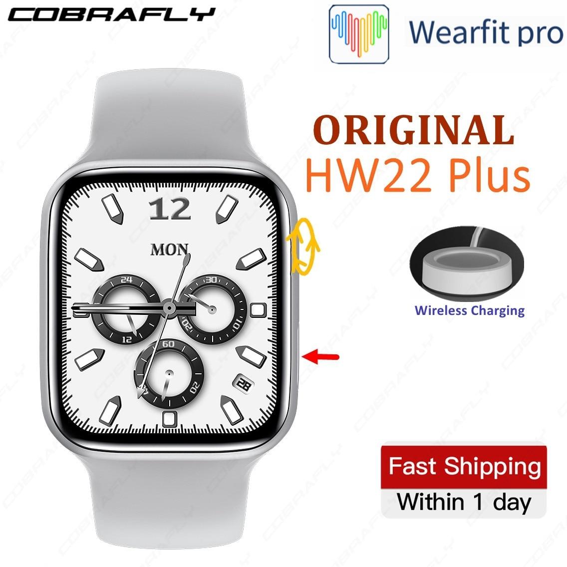 Смарт-часы COBRAFLY IWO HW22 Plus Pro, 1,75 дюйма, квадратный экран