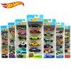 Oryginalny Hot Wheels Diecast 5 sztuk zestaw sportowy samochód utwór 1:64 metalowy samochód zabawki Mini Hotwheels zabawki chłopięce dla dzieci Model samochodu Oyuncak
