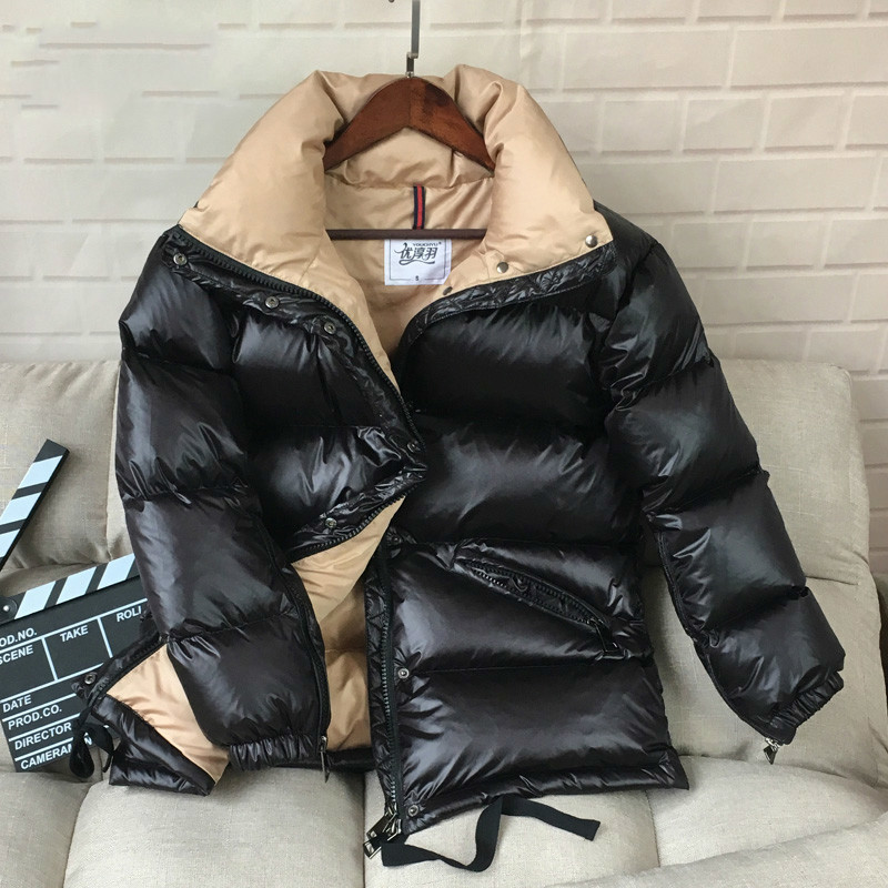2020 Women's Down Jacket 90% White Duck Down Jackets Fashion Winter Short Coats Casual Abrigos Mujer Outwear Hiver Y1802