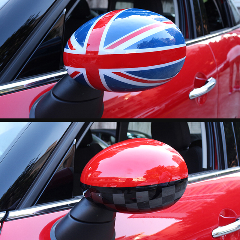 Autocollant extérieur de coquille décorative de rétroviseur de voiture pour BMW MINI Cooper S JCW R55 R56 R60 R61 accessoires de style de voiture