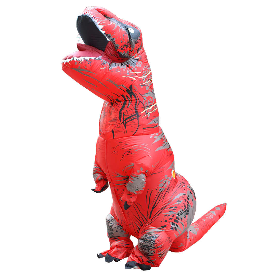 Cartoon Erwachsene Kinder Dinosaurier Aufblasbare Kostüme Phantasie Halloween Cosplay Partei Kostüm Purim Fantasie Karneval T-Rex Dino Anzug