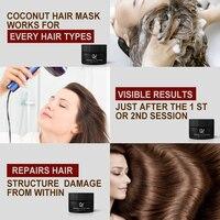 PURC 50ml Coconut Oil Hair MaskRepairs damage restore soft good or all hair types keratin Hair & Scalp Treatment for hair care 5