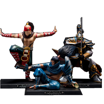 Lee Sin Master Yi Yasuo Action Figures Collectible Model Hot Toy for Child Birthday Gift Home decoration lee child enemy