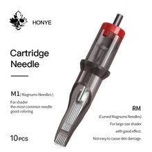 10 agulhas do cartucho da tatuagem dos pces 12 cm/m1 0.35mm para a máquina do aperto jz da máquina do cartucho da tatuagem