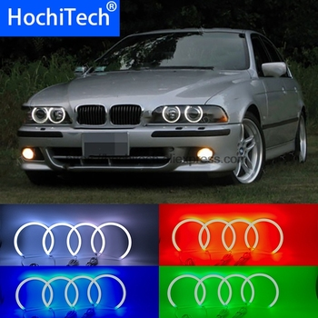 HochiTech 5050 SMD Cotton Multi-Color RGB LED Angel Eyes Kit with remote control for for BMW 1995-2000 E39 5 series pre-facelift
