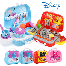 Disney Frozen Children's Makeup Jewelry Toy Bag Mickey Mouse Decoration Backpack Cooking Suitcase Girl Game House Gift