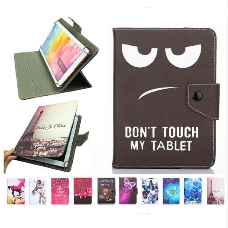 Cover 10 Inch Universele 10.1 Inch Vier Haak Crystal Patroon Tablet PC Universal Stand PU Leather Flip Bescherming Case + pen