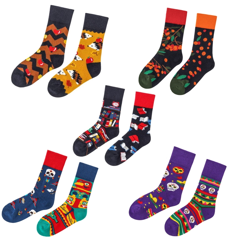 Children Cotton Socks Cartoon Animal Fashion Print Kids Socks Flower Girls Boys Long Happy Socks Designer Funny Couple Footwear