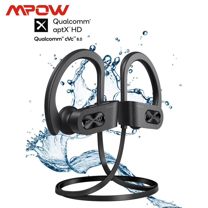 Mpow Flame S Aptx-HD Sound iPX7 Sweatproof Bluetooth 5 0 Wireless Sport Earphones CVC 8 0 Noise Cancelling 12h Playback With Mic