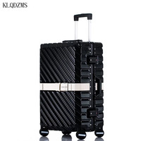 KLQDZMS College Stil Rädern Koffer 20''24''26''29 Zoll ABS Super Mode NEUE Spinner Trolley Gepäck Tasche