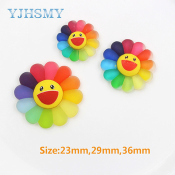 YJHSMY 20312-7 10pcs 23mm 29mm 36mm różne kolorowe ozdoby kwiatowe słońce ozdoby ozdoby ozdoby materiały DIY handmade tanie i dobre opinie