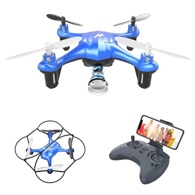 Mini Dron APEX con cámara 720P FPV, Mini Dron con cámara HD, Quadcopter, helicóptero RC, modo de retención de altitud sin cabeza