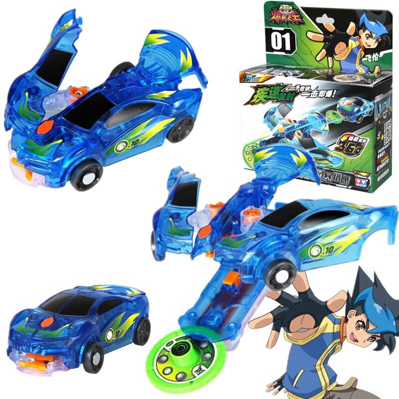 Screechers explosão selvagem velocidade voar deformação carro figuras de ação auldey clássico 360 ° flips transformação carro brinquedos para crianças presentes
