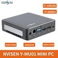 NVISEN Y-MU01 Gaming Mini PC Intel Core i7-8565U/i7-10510U 16G 256GB 512GB Intel HD Graphics Windows8.1/10 Linux DP Smart TV BOX