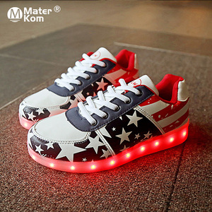 Image 2 - Size 30 44 Kids Luminous Sneakers for Girls Boys Women Shoes with Light LED Shoes with Luminous Sole Glowing Sneakers LED Shoes
