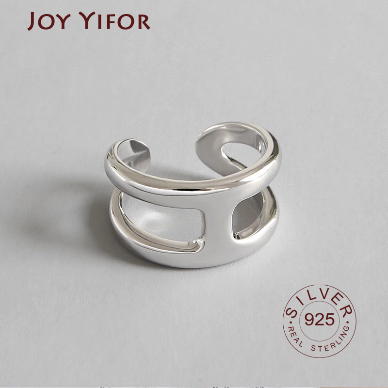 100% Real 925 Sterling Silver Ring Simple Glint Gleam Thin Little Finger Rings For Women Fine Jewelry Gift Hot Sale