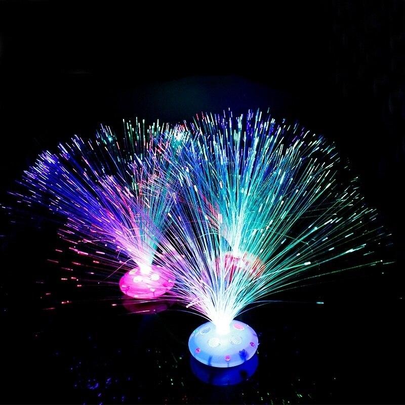 Night-Light Festival Gift LED Indoor-Lamp Fiber-Optic Party 8-Patterns Children's of