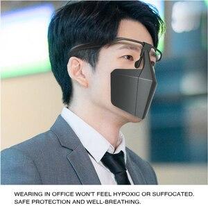 Image 4 - Пластиковая защитная маска от капель противотуманная изоляционная маска для лица воздухопроницаемая многоразовая Защитная крышка изоляционная маска