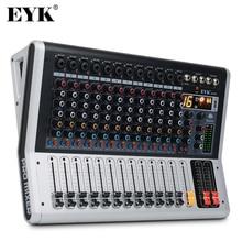 EYK EA120 المهنية 12 قناة وحدة التحكم خلط مع كتم الصوت و PFL التبديل شاشة ديجيتال بلوتوث سجل 3 الفرقة 16 آثار DSP