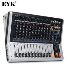 EYK EA120, Consola mezcladora profesional de 12 canales, con interruptor de silencio y PFL, Pantalla digital, Grabación Bluetooth 3 BANDAS 16 Efectos DSP
