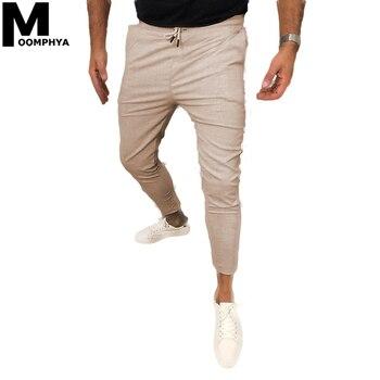Moomphya 2020 Men Clothing Ankle-Length Pants Men Joggers Men Skinny Casual Men Pants Streetwear Slim Summer Trousers Men bossdun men