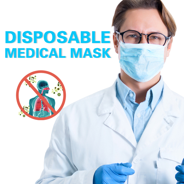 DMAR 20Pcs Face Mouth Mask Disposable Protect 3 Layers Filter Mouth Masks Mouth-muffle Bacteria Proof Flu Mask