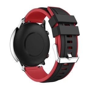 Image 2 - Dla Huami Amazfit GTR 47MM silikonowy zegarek zespół mężczyźni kobiety Sport inteligentny zegarek pasek do Samsung galaxy zegarek 3 45mm gt gt2 46mm