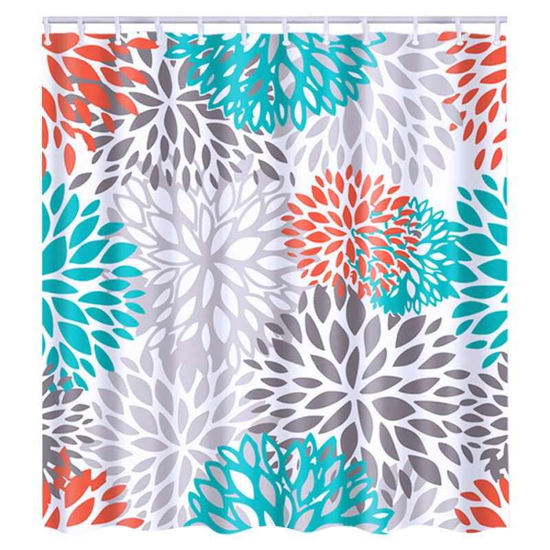 180x180cm plantas tropicais cortinas de chuveiro para o banheiro poliéster tecido cortina de chuveiro folhas impressão cortinas de chuveiro cênicas
