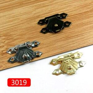 Image 3 - 10 ชิ้น/ล็อต Vintage กล่อง Hasps โลหะฮาร์ดแวร์เฟอร์นิเจอร์ไม้กล่องตกแต่ง Latch Clasps ล็อคกุญแจ Hasp พร้อมสกรู