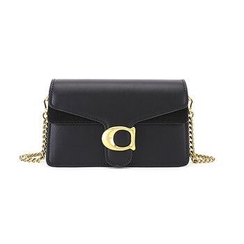 Discount new 2020 Fashion Vintage Chain Bag For Women Small Black Leather Luxury Brand Ladies Designer Shoulder Messenger Bag