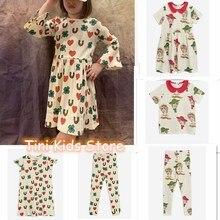 2020 Ins sıcak bebek kız giysileri çocuklar kızlar için elbise Vestidos prenses elbiseler Vestidos kız tozluk pijama setleri aile Matchin