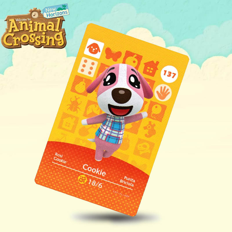 137 Cookie Animal Crossing <font><b>Card</b></font> <font><b>Amiibo</b></font> <font><b>Cards</b></font> Work for Switch NS 3DS Games image