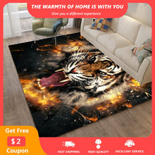 3D Tiger Large Area Rugs Animal Printed Soft Washable Carpets for Living Room Palor Floor Bedroom Carpet Non-slip Playing tapis