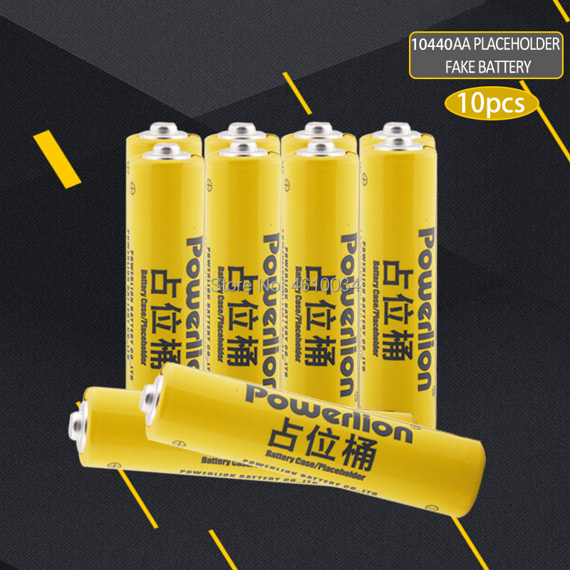 10pc 10440 li-ion lithium dummy fake battery for Lithium iron phosphate battery AAA battery setup dummy cells Placeholder image