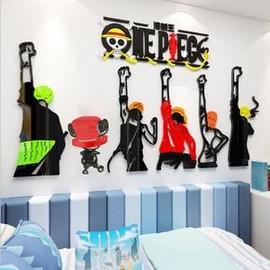 3D DIY акриловый кристалл, один кусок, наклейка на стену, соломенные шапки, персонализированный креативный декор, для мальчиков, общежитий, фон...