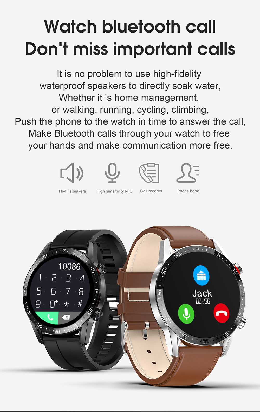 Hbc0e7441395341d0bbcedf47042140f4D Reloj Inteligente Hombre Smart Watch Men 2020 Android IP68 Smartwatch Answer Call Smart Watch Man For Huawei Android Apple Phone