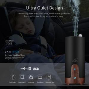 Image 3 - GX.Diffuser Ultrasonic Car Humidifier USB Essential Oil Diffuser Alloy Portable Mini Car Aroma Diffuser Mist Maker with LED Lamp