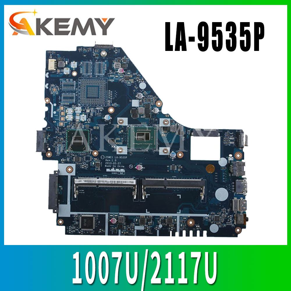 <font><b>Z5WE1</b></font> LA-9535P mainboard For <font><b>Acer</b></font> aspire <font><b>E1</b></font>-530 <font><b>E1</b></font>-570 <font><b>E1</b></font>-570G laptop <font><b>motherboard</b></font> 1007U/2117U Test work 100% original image