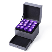 Exquisite 8-color Eternal Rose High-end Jewelry Storage Box Romantic Stunning Gift Organizer