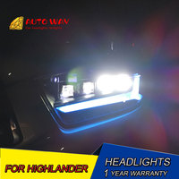 Car Styling Head Lamp case for Toyota Highlander Headlights 2009 2011 Highlander LED Highlander Headlight ALL LED Option LED