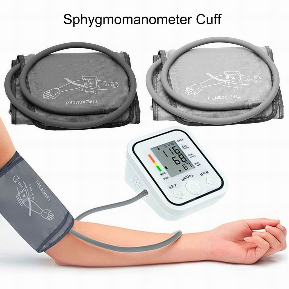 22-32cm Automatic Digital Upper Arm Blood Pressure Monitor Large LCD Cuff Electronic Sphygmomanometer Pressure Gauge Tonometer