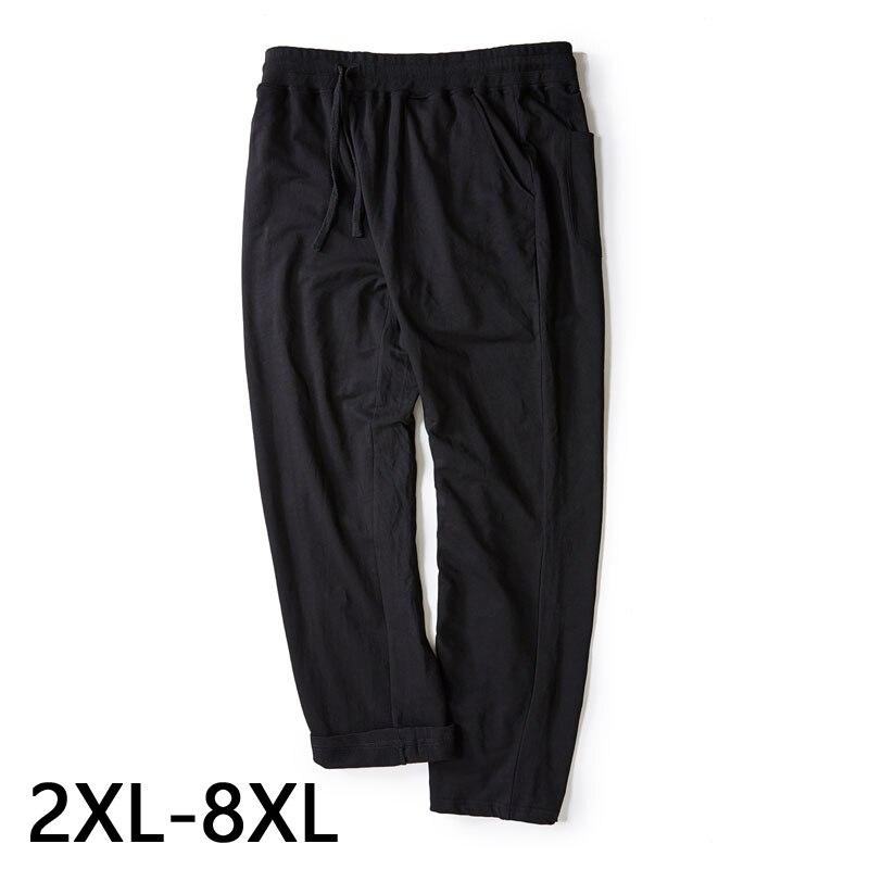 7XL 8XL Men's Slim Casual Cotton Large Size Pocket Pants Sports Pants Men's Loose Jogging Pants Fashion Big Size Casual Trousers